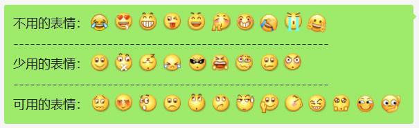 聊天时表情的使用建议